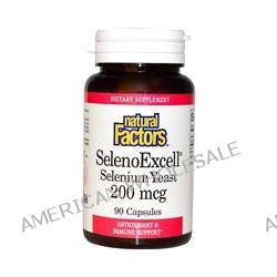 Natural Factors, SelenoExcell, Selenium Yeast, 200 mcg, 90 Capsules