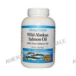 Natural Factors, Omega Factors, Wild Alaskan Salmon Oil, 1000 mg, 180 Softgels