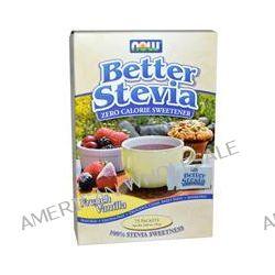 Now Foods, BetterStevia, Zero Calorie Sweetener, French Vanila, 75 Packets, (1 g) Each