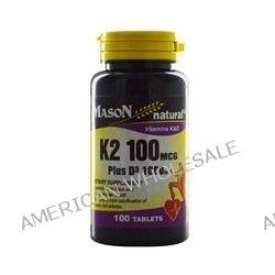Mason Vitamins, K2 Plus D3, 100 mcg/1000 IU, 100 Tablets