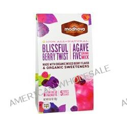 Madhava Natural Sweeteners, Agave Five Drink Mix, Blissful Berry Twist , 6 Packets, 0.67 oz (19 g)