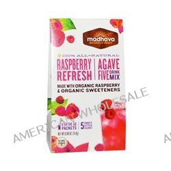Madhava Natural Sweeteners, Agave Five Drink Mix, Raspberry Refresh, 6 Packets, 0.88 oz (24.8 g)