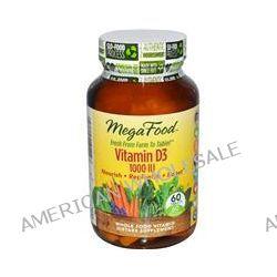 MegaFood, Vitamin D3 1000 IU, 60 Tablets