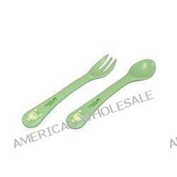 iPlay Inc., Green Sprouts, Cornstarch Fork & Spoon, 12+ Months, 1 Fork/1 Spoon