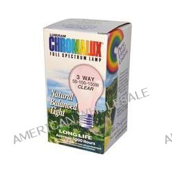 Chromalux, Lumiram, Full Spectrum Lamp, 3 Way 50-100-150W Clear, 1 Light Bulb