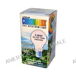 Chromalux, Lumiram Full Spectrum Lamp, 3 Way 50-100-150W Frosted, 1 Light Bulb