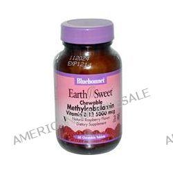 Bluebonnet Nutrition, EarthSweet, Methylcobalamin, Vitamin B-12, Natural Raspberry Flavor, 5000 mcg, 60 Chewable Tablets