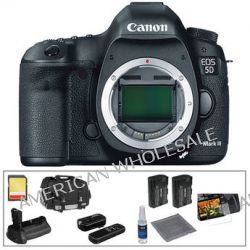 Canon EOS 5D Mark III DSLR Camera (Body Only) Deluxe Accessory