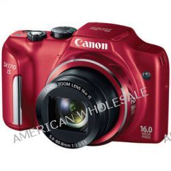 Canon Power Shot SX170 IS Point-and-Shoot Camera (Red) 8676B001