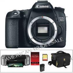 Canon EOS 70D DSLR Camera Kit with PIXMA PRO-100 Inkjet Printer