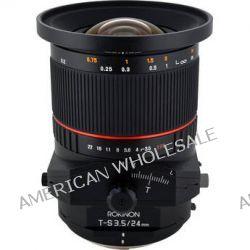 Rokinon Tilt-Shift 24mm f/3.5 ED AS UMC Lens for Nikon TSL24M-N