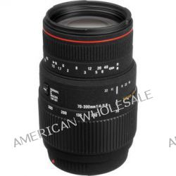 Sigma 70-300mm f/4-5.6 APO DG Macro Lens for Sony and 508205 B&H