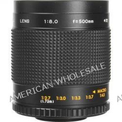 Bower 500mm f/8.0 Manual Focus Telephoto T-Mount Lens SLY5008