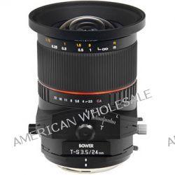 Bower 24mm f/3.5 ED AS UMC Tilt-Shift Lens SLY24TSS B&H Photo