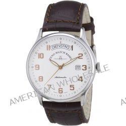 Zeno Watch Basel Herren-Armbanduhr XL Flatline Analog Automatik Leder 6210-f2