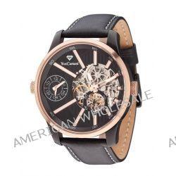 Yves Camani Herren-Armbanduhr XL TARAVO Dual Time Redgold Analog Automatik Leder YC1054-C