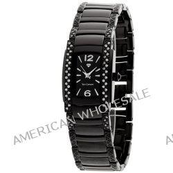 Yves Camani Damen-Armbanduhr JULIETTE Crystal Black Analog Edelstahl YC1035-C