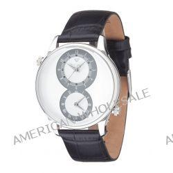 Yves Camani Herren-Armbanduhr XL LOISON Dual Time Silver/Silver Analog Quarz Leder YC1055-C