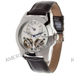 Yves Camani Herren-Armbanduhr XL YVES CAMANI BALANCIER Automatik Silver Black Analog Leder YC1034-B