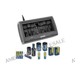 Watson Universal 8-Bay Charger Kit with AAA, AA and 9V NiMH B&H