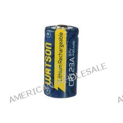 Watson CR123A Rechargeable Lithium Battery (3V, 400mAh)