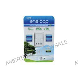 Sanyo eneloop 4-Position Charger with 8 AA and 4 AAA 1.2V 776230