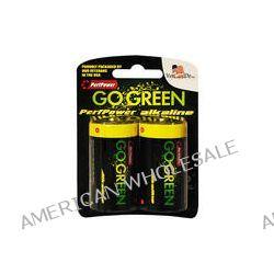 PerfPower GoGreen D Alkaline Batteries (2-Pack) 24004 B&H Photo