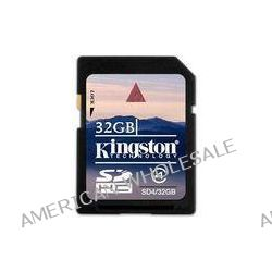 Kingston  32GB SDHC Memory Card Class 4 SD4/32GB B&H Photo Video