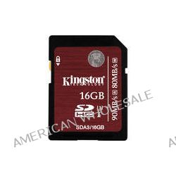 Kingston 16GB UHS-1 SDHC Memory Card (Class-10) SDA3/16GB B&H