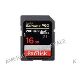 SanDisk 16GB Extreme PRO UHS-II SDHC Memory Card