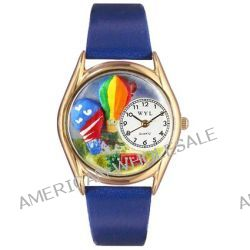 Skurril Uhren C-1010018 Womens Hei-luftBallons Royal Blue Leather And Goldton Uhr