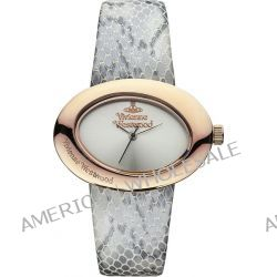 Vivienne Westwood Damen Armbanduhr Ellipse II Analog Leder grau VV014SLGY