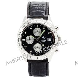 Urban Spirit Herren-Armbanduhr XL Chronograph Quarz Leder U100BAAR1