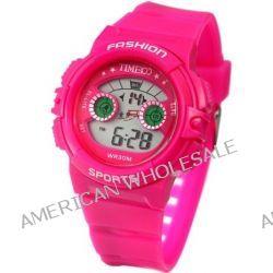 Time100 Farbige LCD Sport-Kinder-Digital-Armbanduhr W40007G.06A