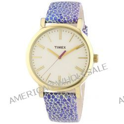 Timex Damen-Armbanduhr Originals Classic Round Analog Quarz Leder T2P326