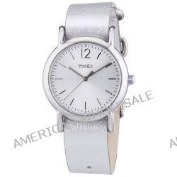 Timex Damen-Armbanduhr XS Timex Weekender Analog Quarz Leder T2P344