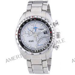 Timex Herren-Armbanduhr XL Aviator Fly-Back Chrono Chronograph Quarz Edelstahl T2P104