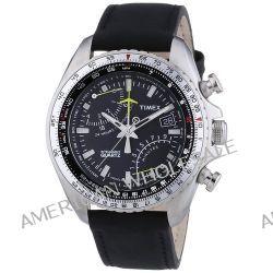 Timex Herren-Armbanduhr XL Aviator Fly-Back Chrono Chronograph Quarz Leder T2P101