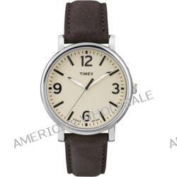 Timex Unisex-Armbanduhr Originals Classic Round Analog Quarz Leder T2P526