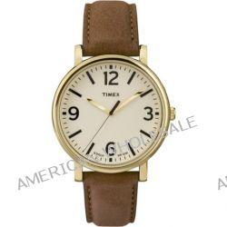 Timex Unisex-Armbanduhr Originals Classic Round Analog Quarz Leder T2P527