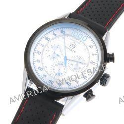 O.R.® (Old Rubin) Herren mechanische Uhr mit weißem Zifferblatt Chronograph Anzeige, Armbanduhr mit verstellbarem Resin-Armband Uhren