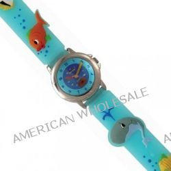 Trendy Kiddy Unisex-Armbanduhr Analog Quarz Blau KL106