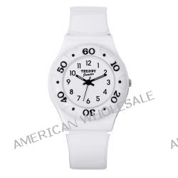 Trendy Junior Mädchen-Armbanduhr Analog Plastik weiss KL 188