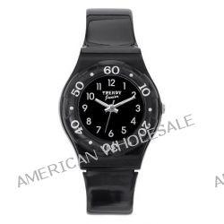 Trendy Junior Mädchen-Armbanduhr Analog Plastik schwarz KL 189