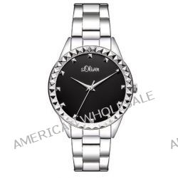 s.Oliver Damen-Armbanduhr XS Analog Quarz Edelstahl SO-2883-MQ