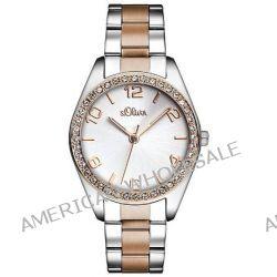 s.Oliver Damen-Armbanduhr XS Analog Quarz Edelstahl SO-2774-MQ