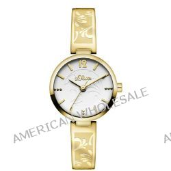 s.Oliver Damen-Armbanduhr XS Analog Quarz Edelstahl SO-2900-MQ