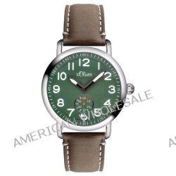 s.Oliver Herren-Armbanduhr XL Analog Quarz Leder SO-2926-LQ