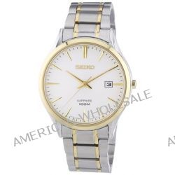 Seiko Herren-Armbanduhr XL Sapphire Analog Quarz Edelstahl SGEG96P1