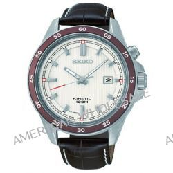 Seiko Herren-Armbanduhr XL Kinetic Analog Quarz Leder SKA645P1